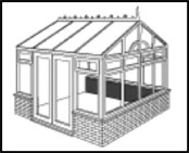 The Gable conservatory offers a steeper pitched and adds light and space.