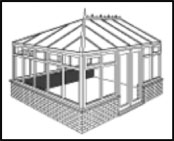 The Georgian Conservatory maximises internal space.  A flat fronted variant of the Victorian conservatory.