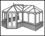 The P-shape Conservatory is ideal for creating maximum space whilst maintaining a sense of proportion with your house.